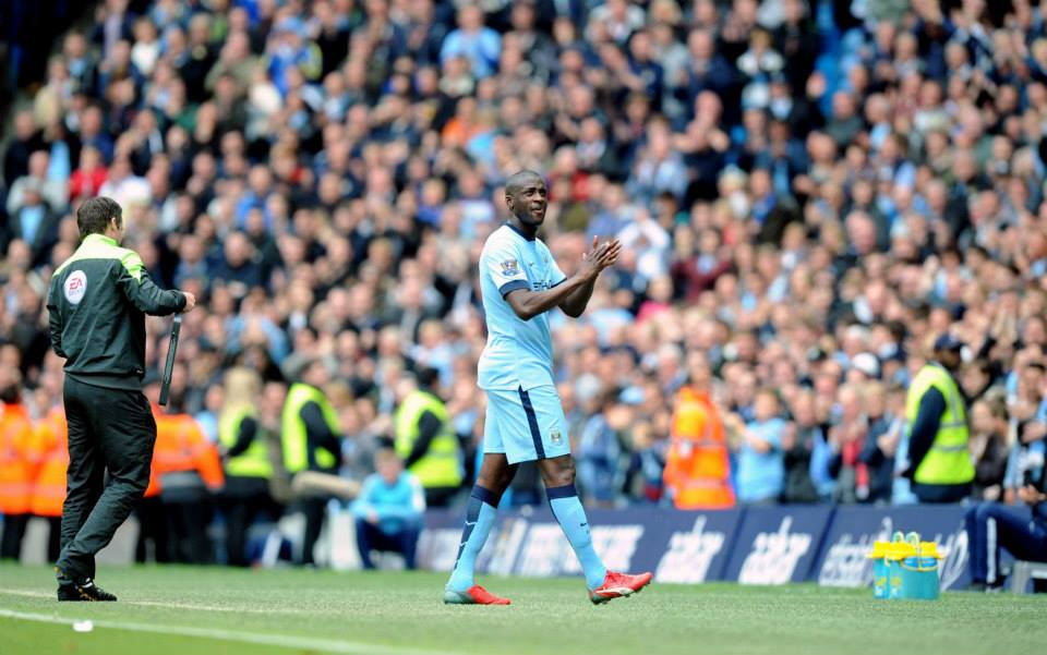 Going off but staying on - Yaya Toure is - quite astonishingly - sticking with City. Courtesy@MCFC