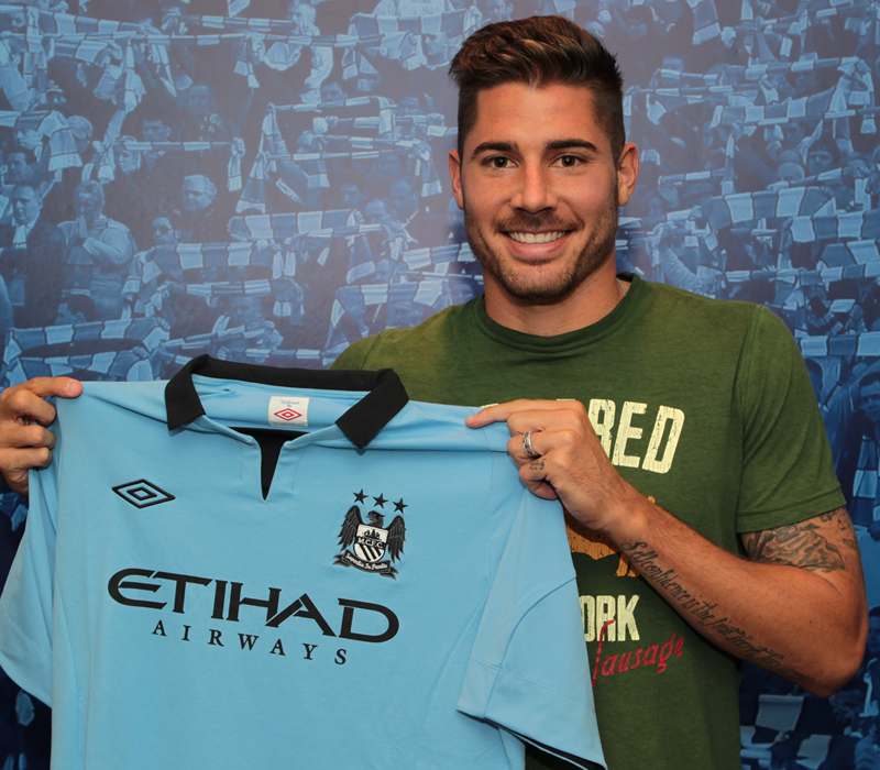 Same pose, different shirt - Garcia arrived at City from Benfica in a massively disappointing summer transfer window of 2012.