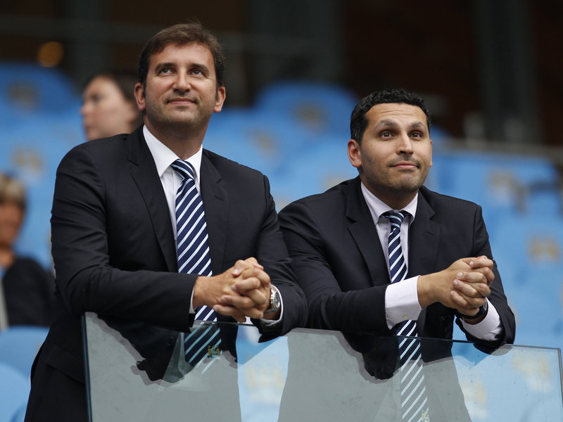 City slickers - Will Khaldoon and CEO Ferran Soriano preside over a £200m transfer spending spree in the next 50 days? Courtesy@MCFC