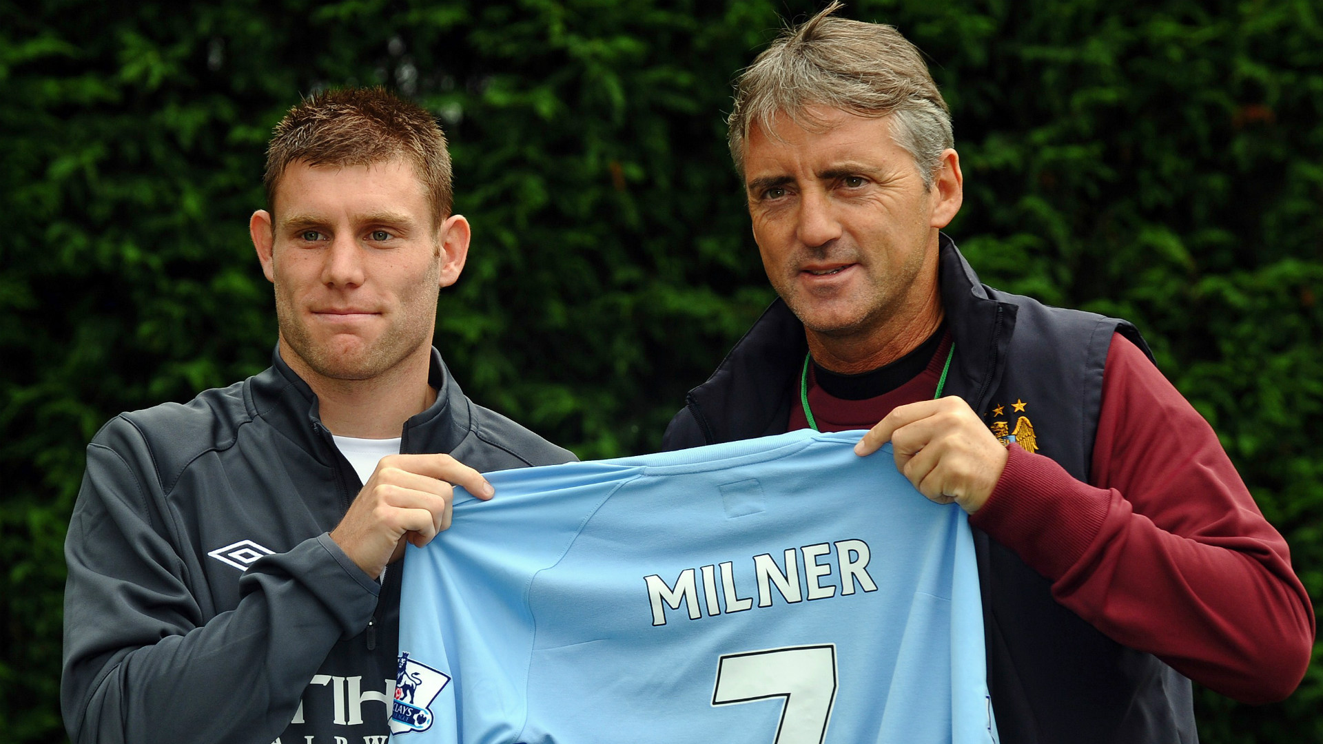 Five years ago - Milner arrived at Mancini's City for £26m from Aston Villa.