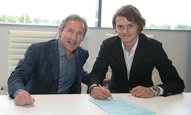 First of many - Young Turk Enes Unal signs for City, pictured with Txiki Begiristain. Courtesy@MCFC