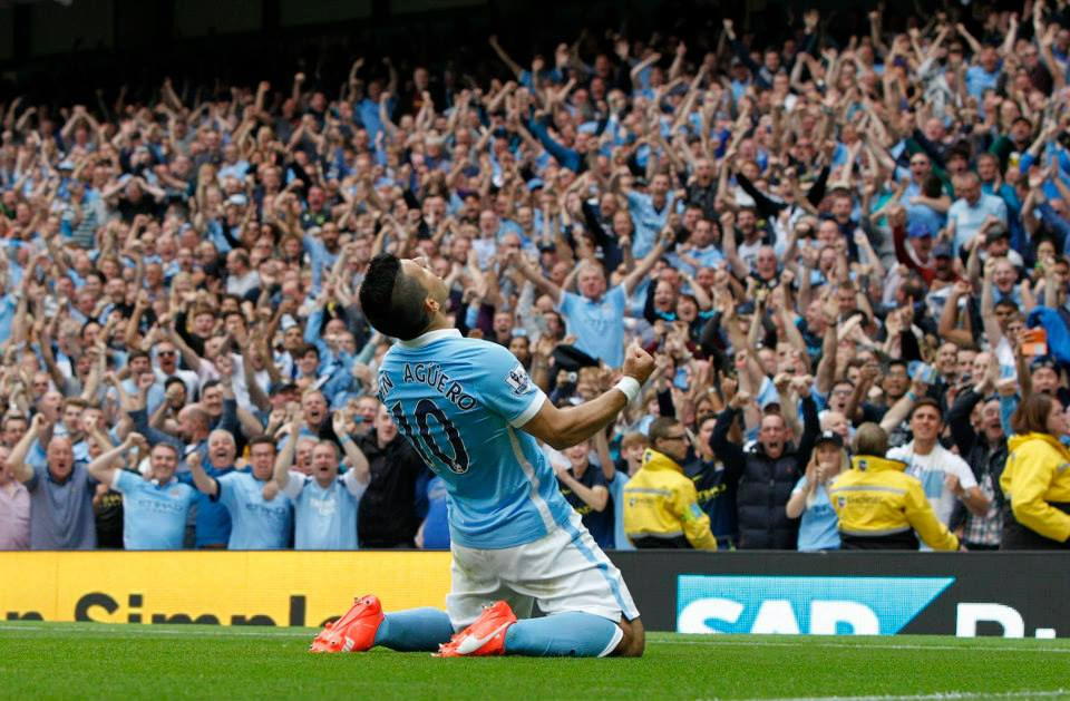 Get netted - Sergio is continuing his MCFC mission...goals, goals and more goals. Courtesy@MCFC