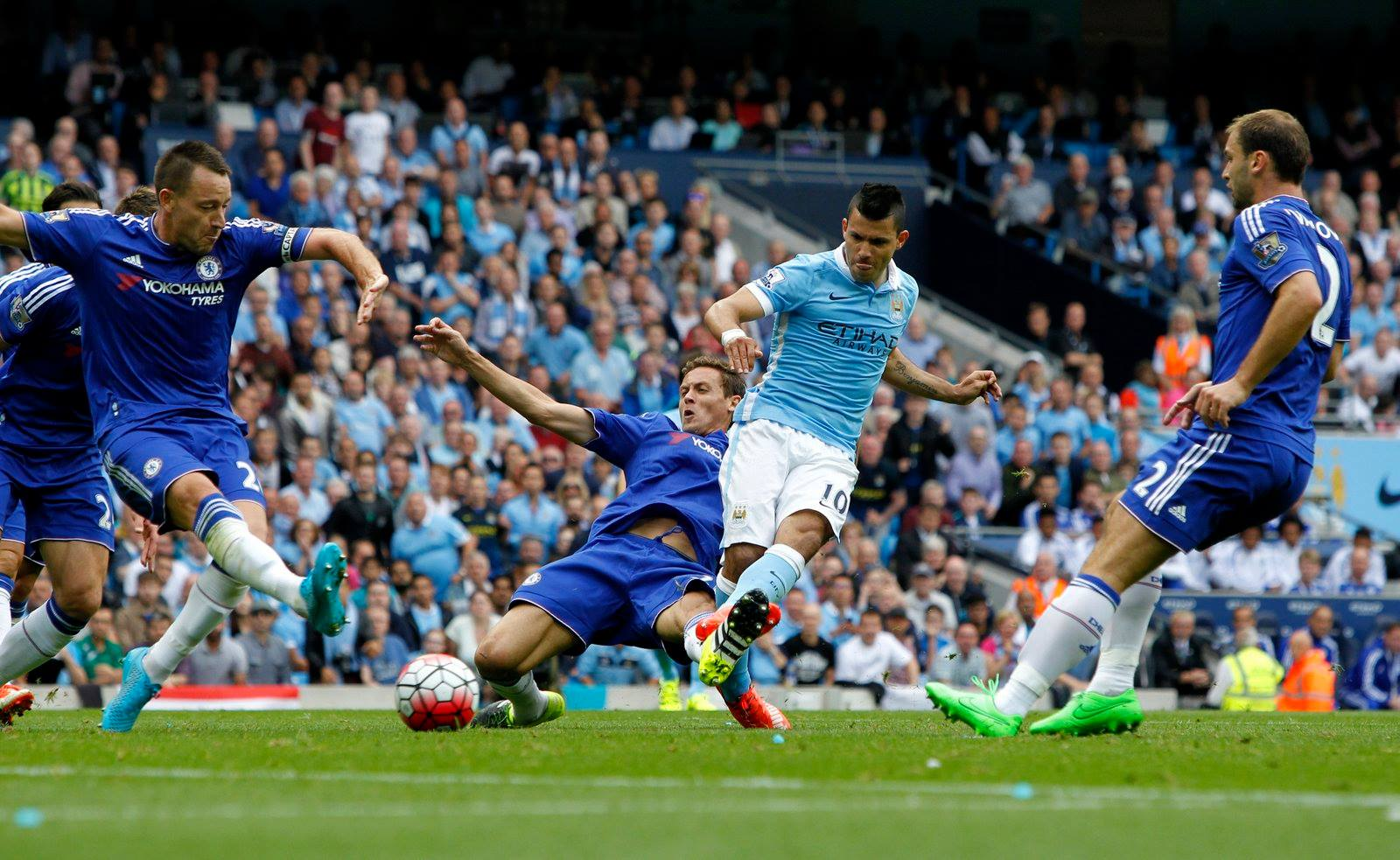 First Blood - Sergio opened up his goals account for the new season. Courtesy@MCFC