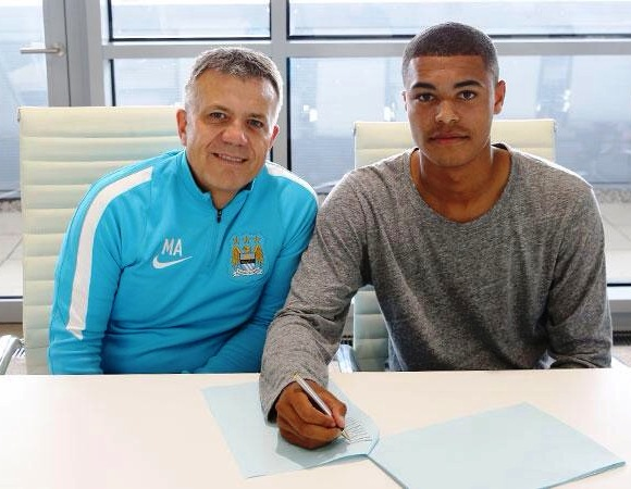 Look to the future - 16-year old Cameron Humphreys signed a 3-year deal at City this week. Courtesy@MCFC
