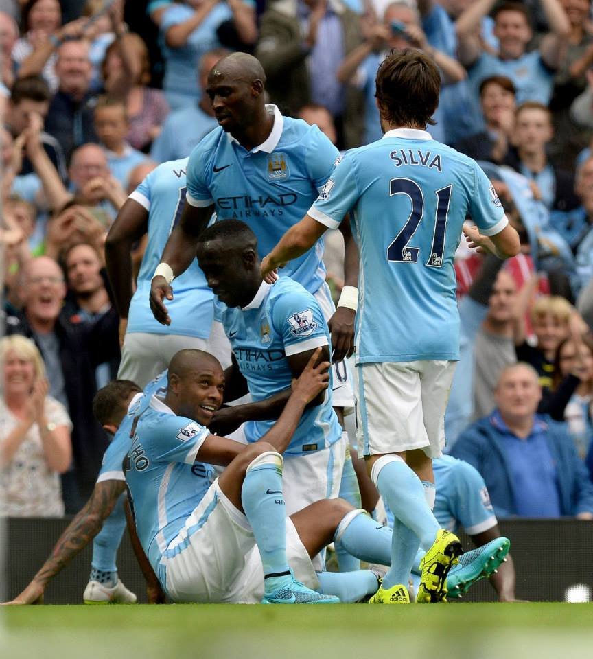 Dynamic Dino - Fernandinho ensured Chelsea were elbowed out of the points. Courtesy@MCFC
