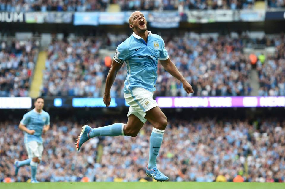 Kompany man - Vinny is devoted to City's cause and 2 goals in 2 games don't hurt! Courtesy@MCFC