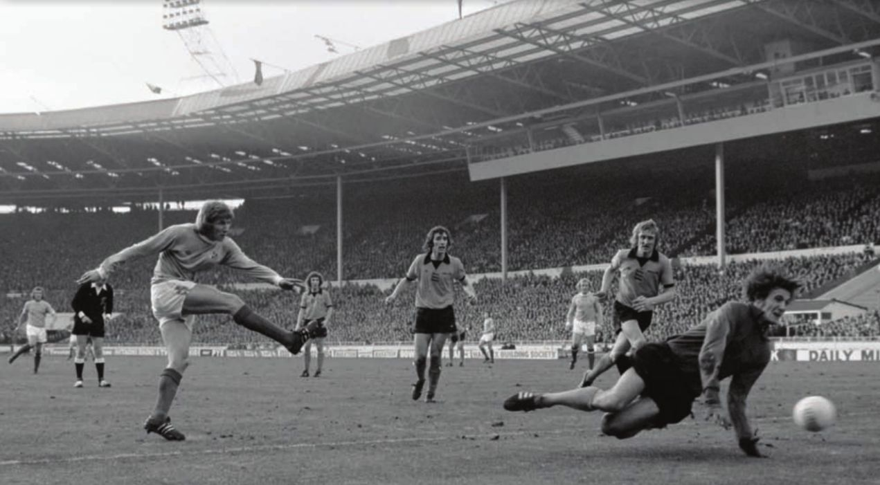 Tears of despair - City lost the 1974 League Cup Final to Wolves 2-1 - cue a crying Sean Riley.