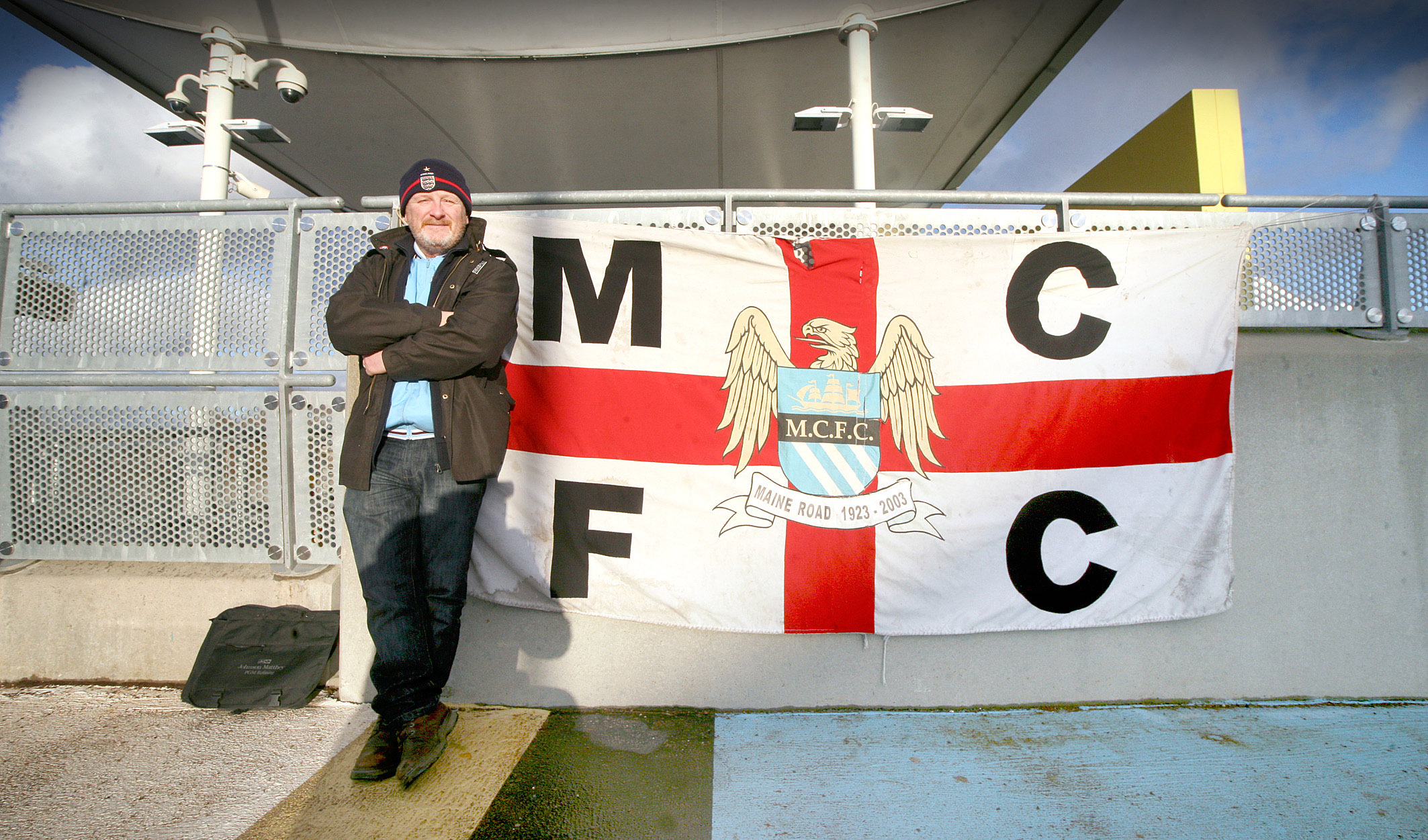 One man & his flag - Sean has been a City standard bearer for more than 40 years.
