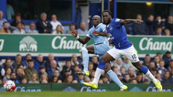 Show of strength - Mangala faired much better against Lukaku on his second visit to Goodison Park.