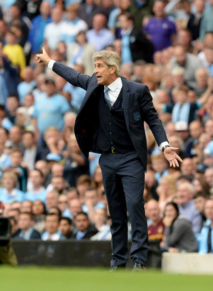 4 out of 5 - Manuel says the Manchester derby is a six-point affair as he aims for his fourth victory over United.. Courtesy@MCFC