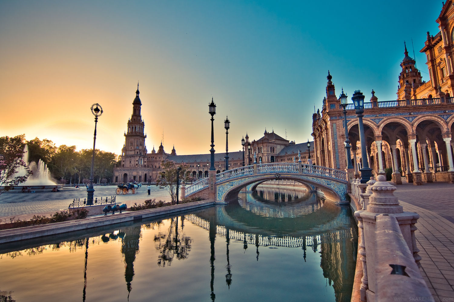 Stunning - If City can be as attractive as Seville's Plaza-de-Espana they'll be going through to the Champions League knockout stages.
