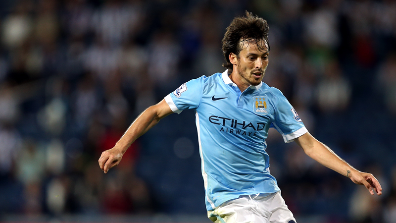 Sublime - El Mago David Silva was City's creative wizard at The Hawthorns. Courtesy@ MCFC