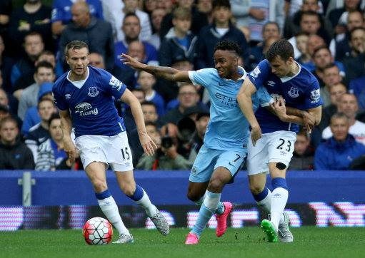 Bit of a handful - Raheem Sterling is settling in well at City and troubling opposition defences. Courtesy @MCFC