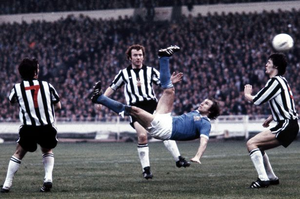 Dennis Tueart's winner at Wembley in 1976 went down a treat in the Newcastle end!