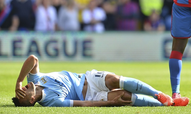 Aguero agony - Sergio misses the Champions League clash with Juventus after Scott Dann's cowardly challenge.