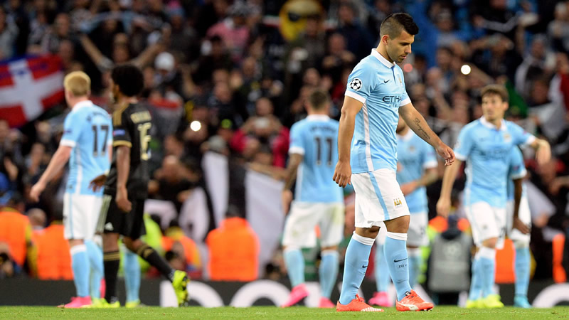 Down but not out - City will have chances to redeem themselves in the Champions League. Courtesy@MCFC