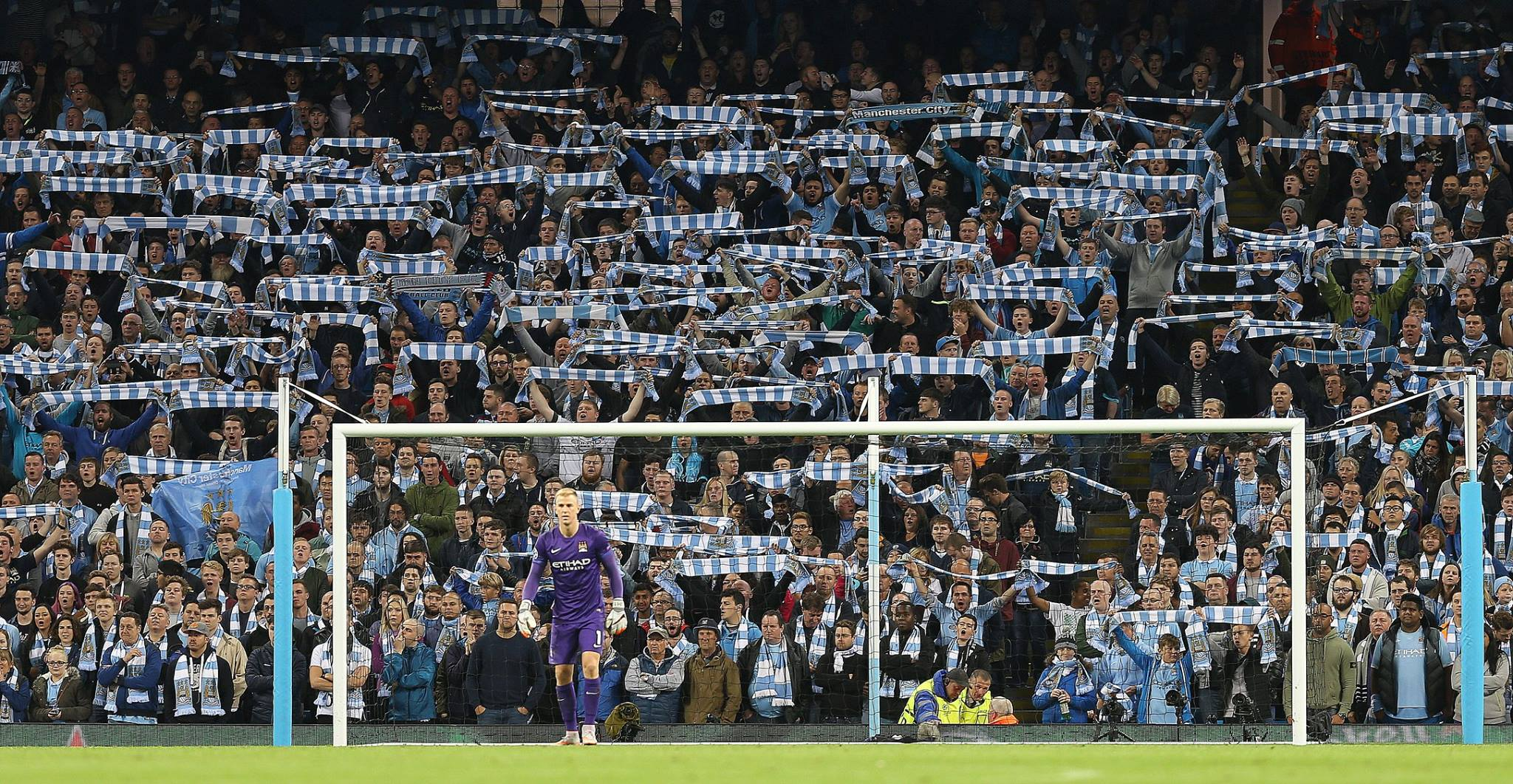 Can we have some more please? Let's make the Etihad a cauldron of noise and a vision of sky blue & white. Courtesy@MCFC
