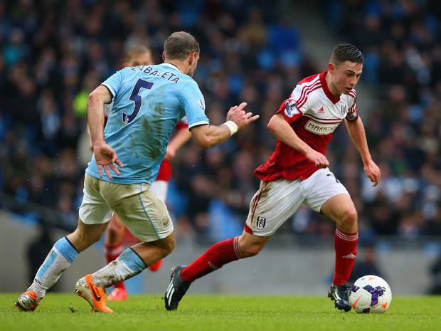 Up & Coming - Patrick Roberts made his debut at the Etihad...but playing for Fulham at the time.