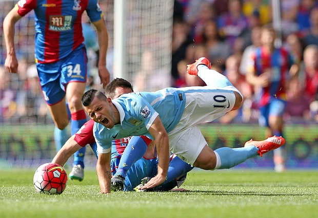 ABH, GBH, Common Assault - whatever it was, Dann's 'tackle' on Aguero was downright criminal.
