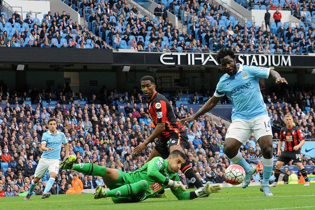 Carry On Wilfried - Bony taps in after Federici's blunder.
