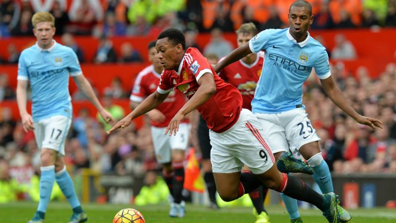 Martial Law wasn't imposer at Old Trafford as Fernandinho worked tirelessly to win the midfield battles. Courtesy@MCFC