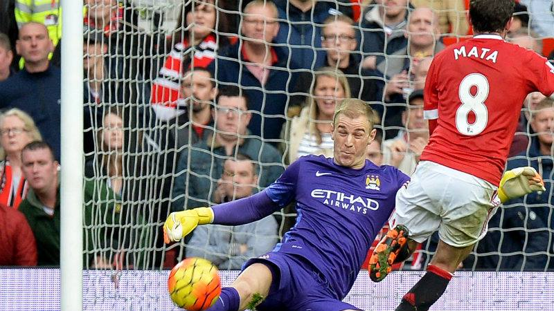 Hart of the Mata - Joe was quick to thwart Juan and chalk up his 100th Premier League clean sheet. Courtesy@MCFC