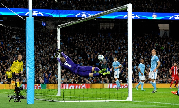 Close call - City could have been 2-0 down to Sevilla at the Etihad before finally winning 2-1.