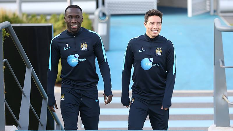 French Connection - Sagna and Nasri are fit and ready to play. Courtesy@MCFC.