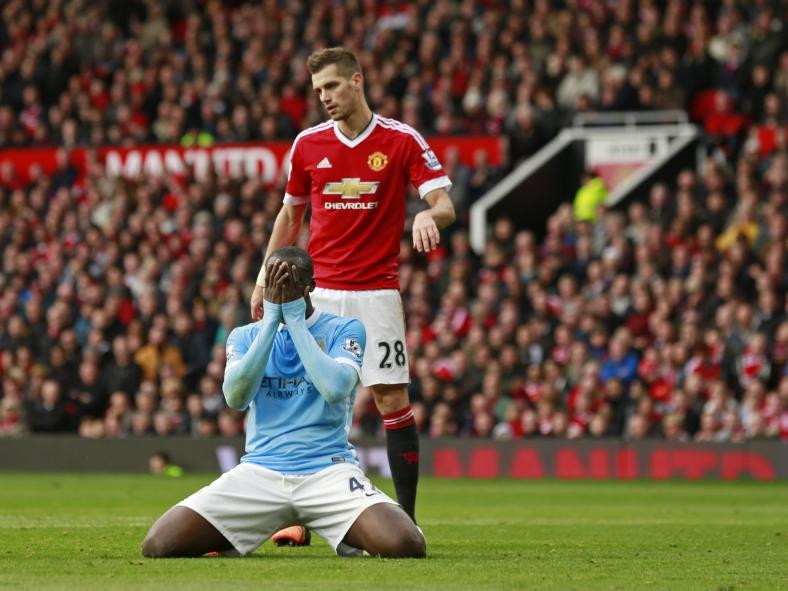Near miss - Yaya came agonisingly close to giving City the lead.
