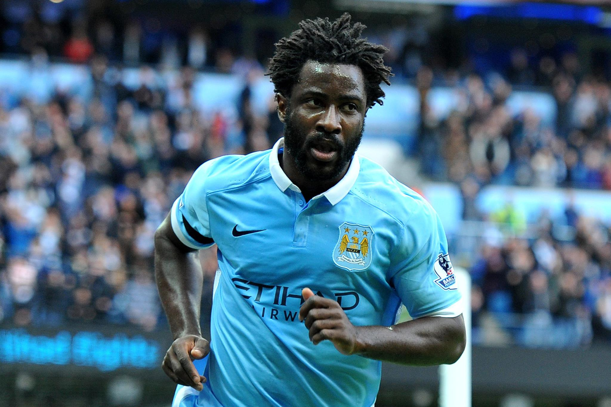 Bony Lad - Wilfried led the line brilliantly in Seville. Courtesy@MCFC