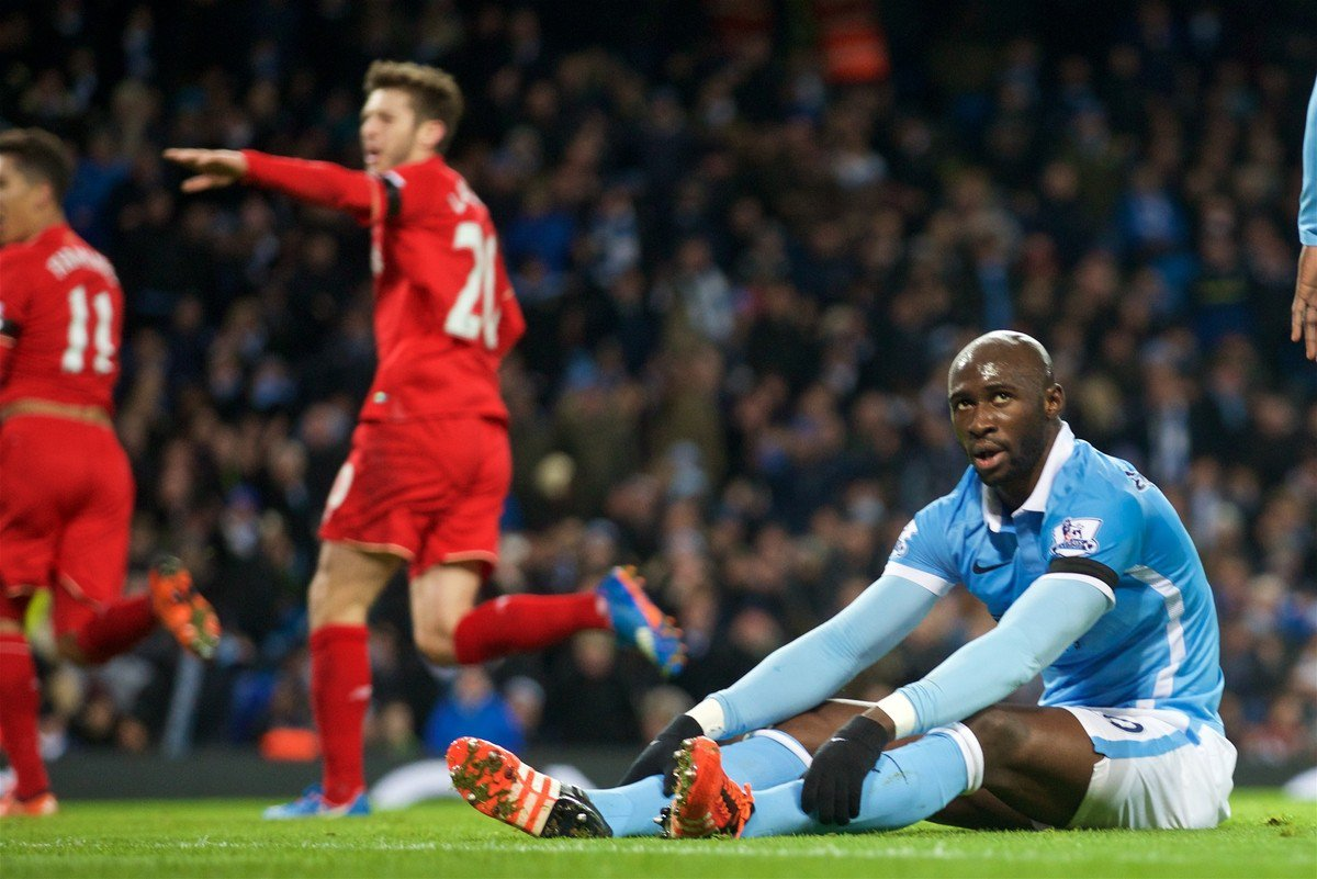 Mangala mare - City's French centre back had a torrid time against Liverpool.