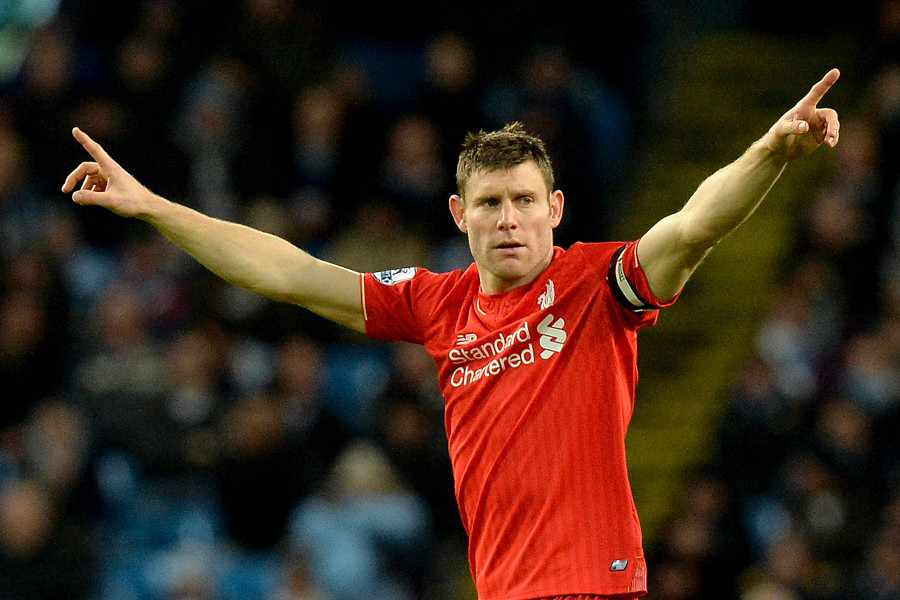 Happy return - James Milner came back to the Etihad as Liverpool's victorious skipper.