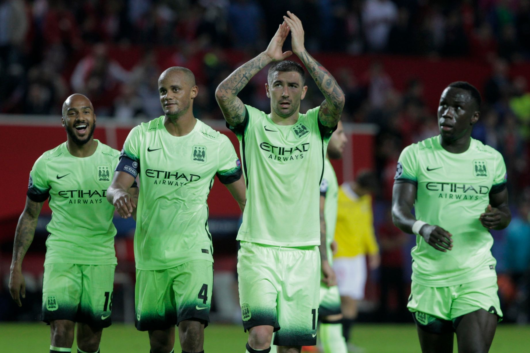 Big hand - City players and supporters alike performed brilliantly in Seville.