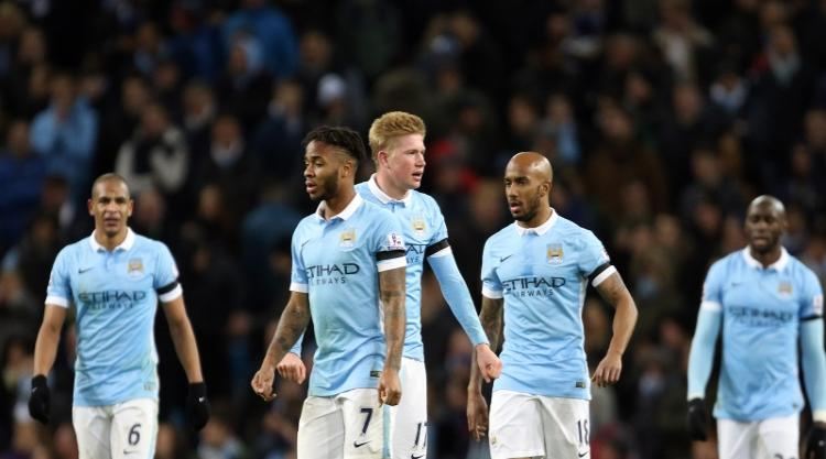 Shell shocked - City's players seem dazed after Liverpool blew them away 4-1.
