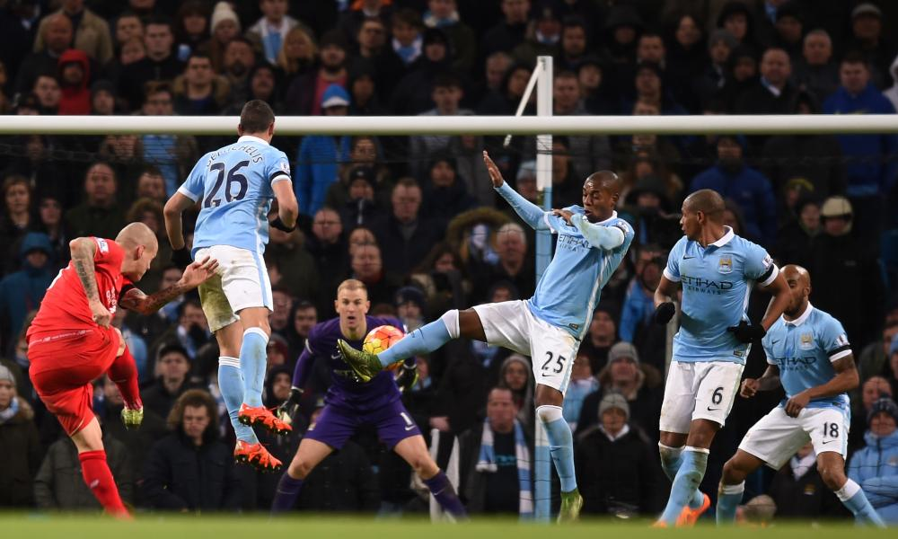 Sniper fire - Joe Hart was left exposed to Liverpool's firepower thanks to shambolic City defending throughout the game.