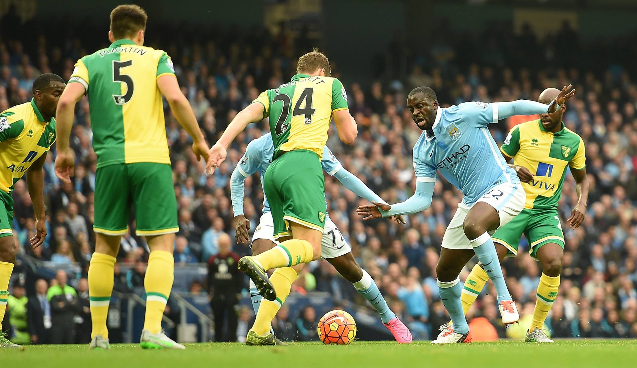 On the spot - Yaya stroked home a penalty winner against Norwich. Will he be on the scoresheet at Villa? Courtesy@MCFC