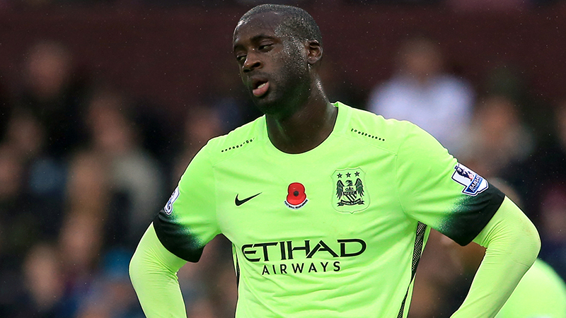 Time for change - Yaya has been immense for City but can no longer play the full 90 minutes to good effect. Courtesy@MCFC