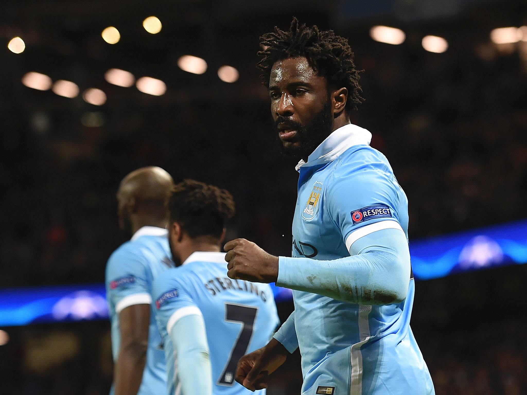 One-in-three - Bony has scored six goals in 18 games for City this season.