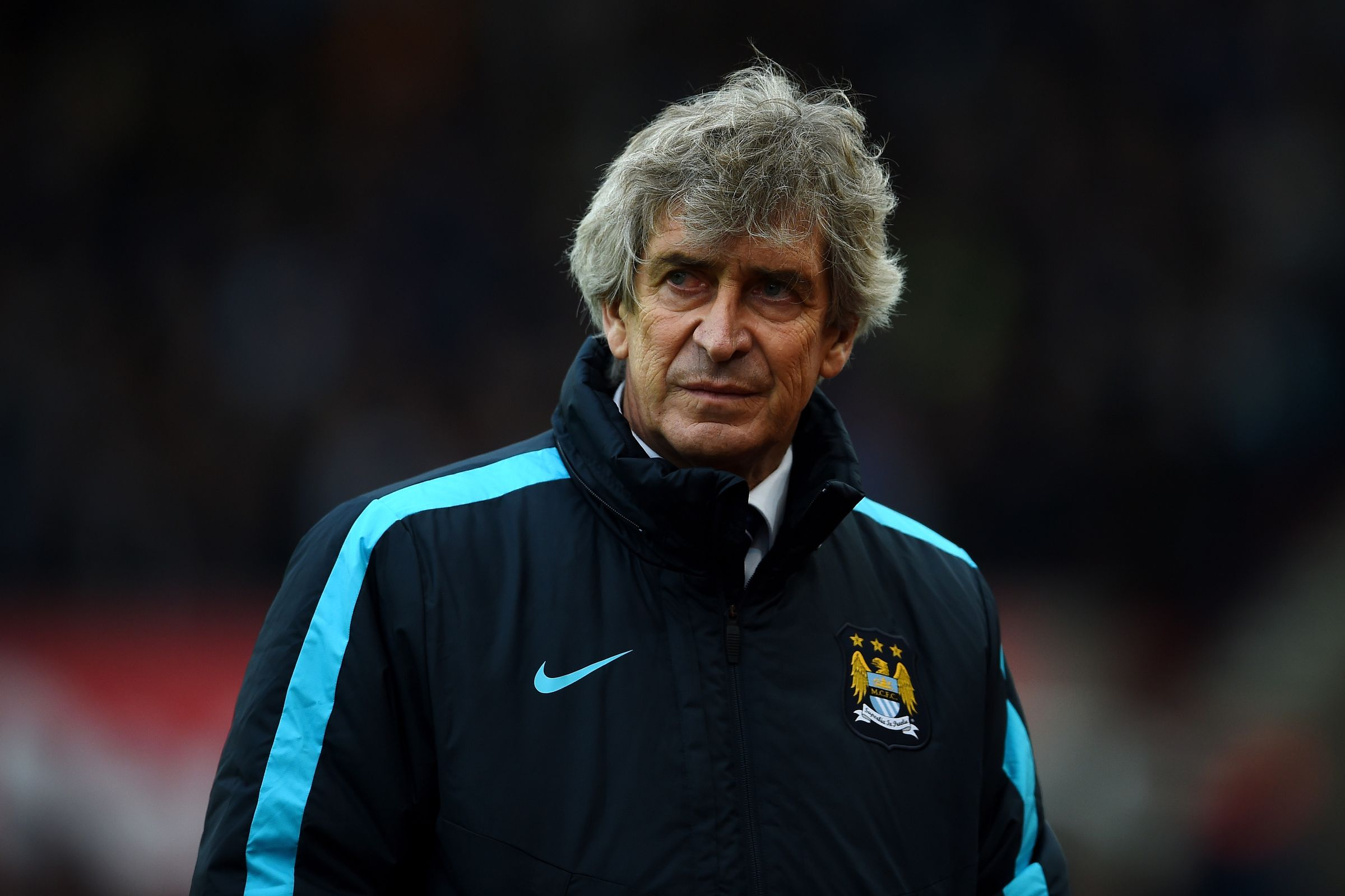 The Pain of Pellegrini - Manuel looks haunted by City's pathetic showing at Stoke.