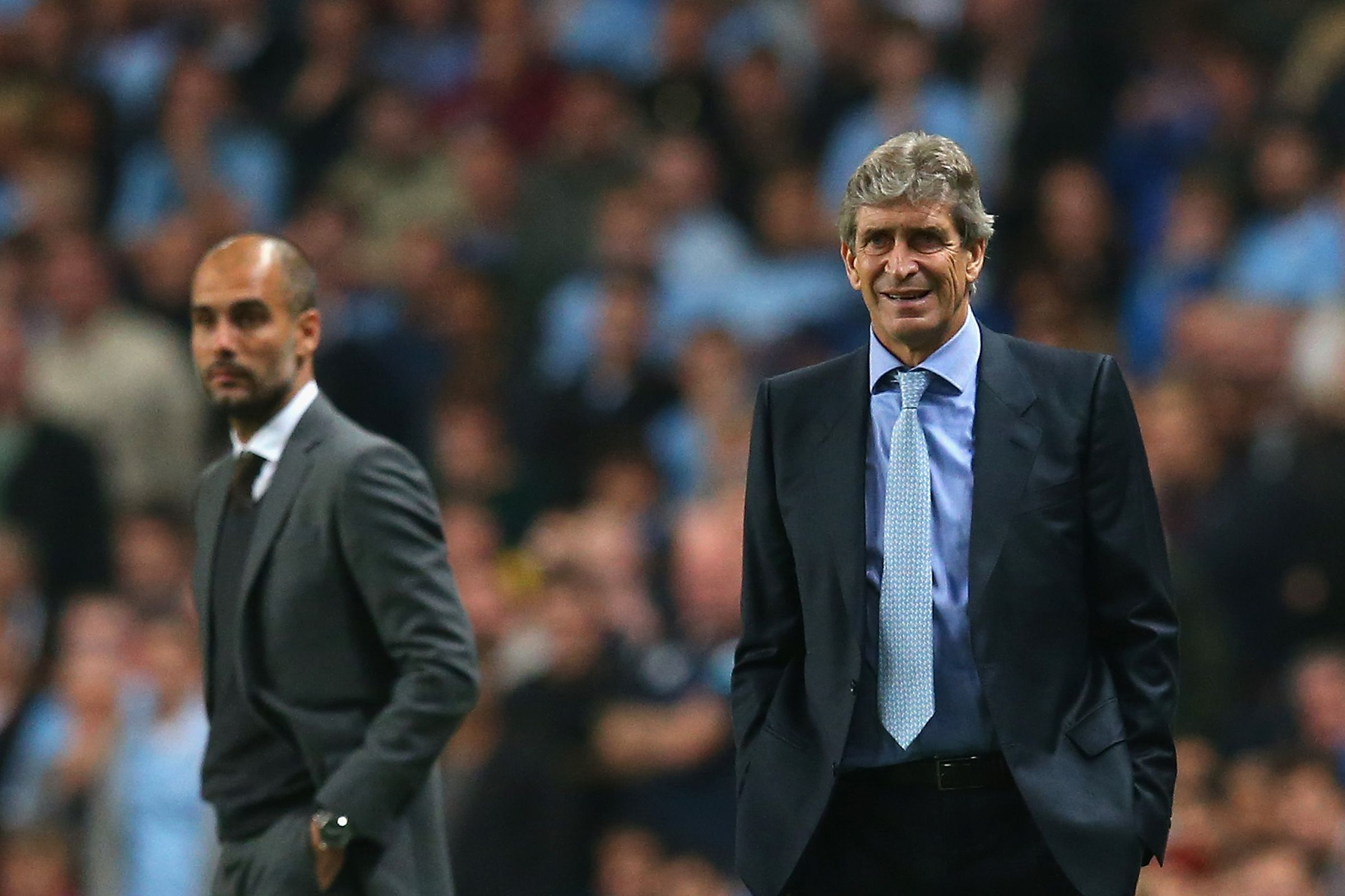 Changing of the Guard - Pep comes in and Manuel goes out of the Etihad this summer.