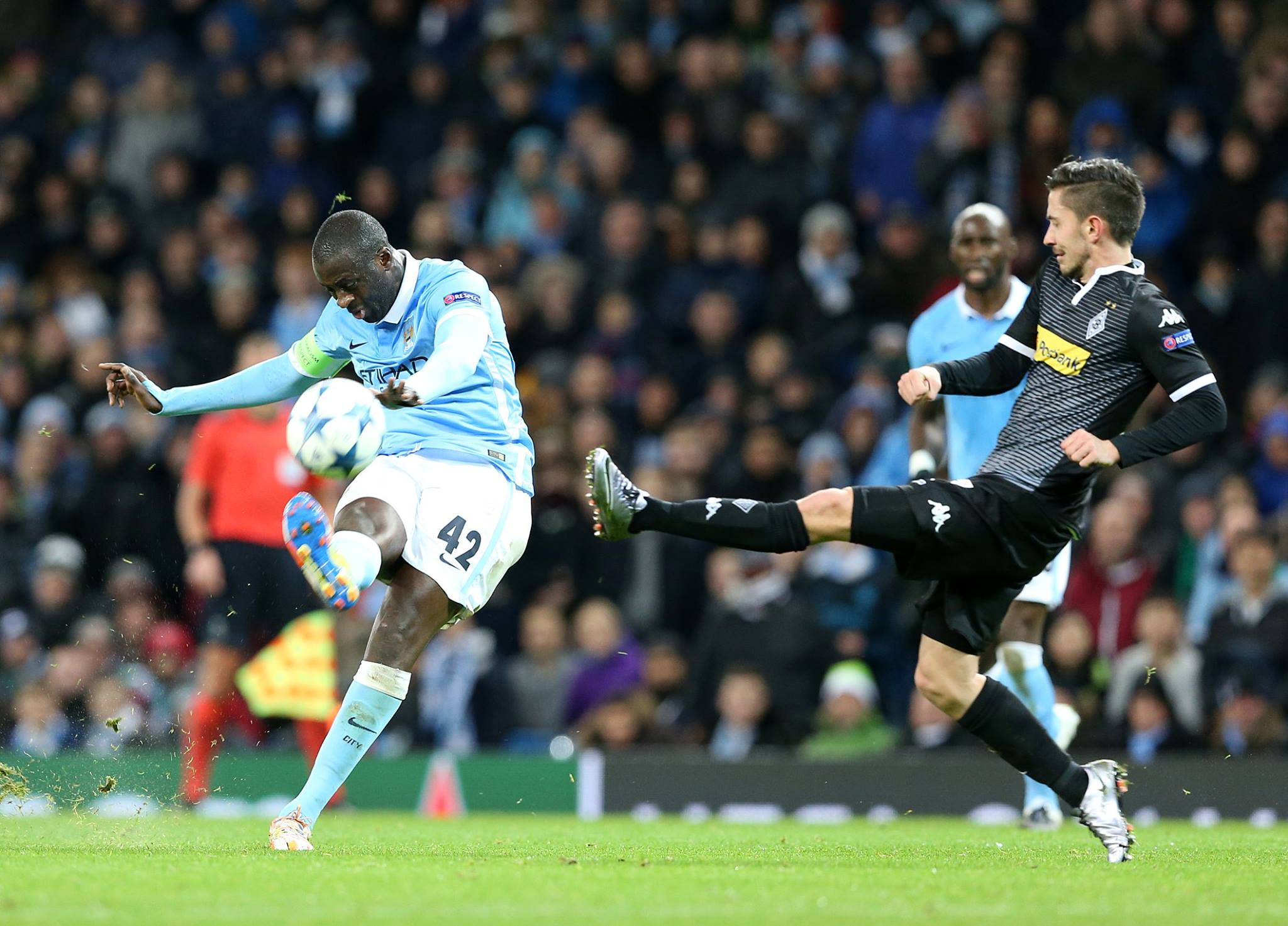 Yes, yes Yaya - Toure produced a masterly display to help guide City past Moenchengladbach.
