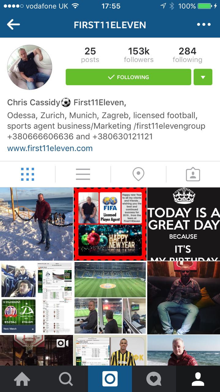 Cheat - convicted conman Chris Cassidy appears to be a popular man on his Instagram account...but looks can be very deceptive.