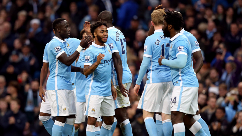 Wonderland over Sunderland - City players celebrate in their latest 4-1 Boxing Day win over the Mackems. Courtesy@MCFC