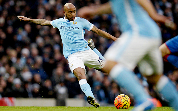 Credit - Fabian Delph nearly followed up his goal strike against Crystal Palace, hitting the post against West Ham.