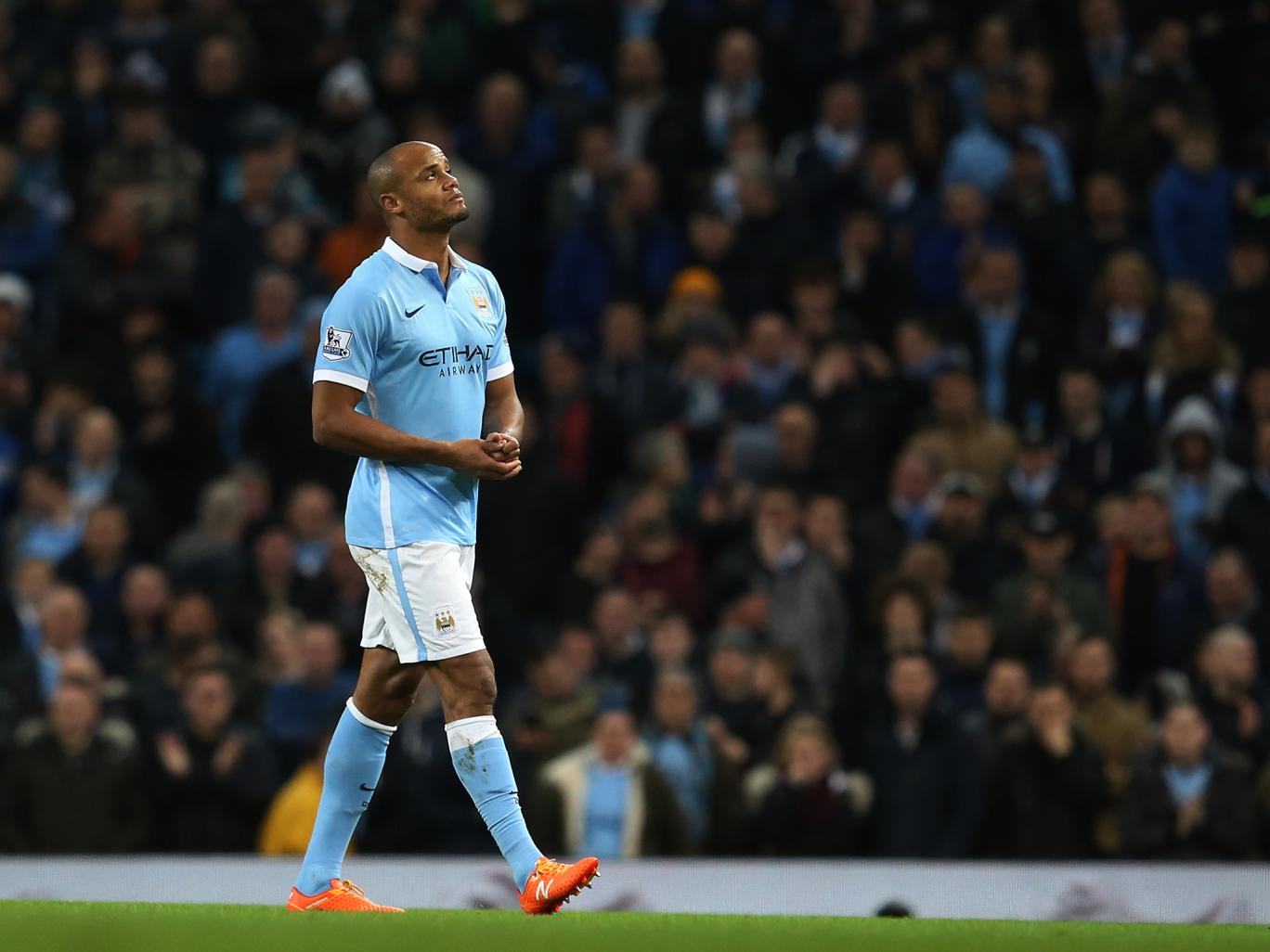 Good Kompany - City look bad at the back when Captain Vincent is sidelined by his calf injury.
