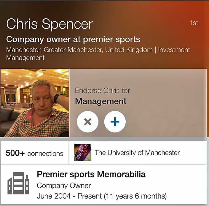 Conman - Chris Spencer, better known as Chris Cassidy - is a convicted fraudster.