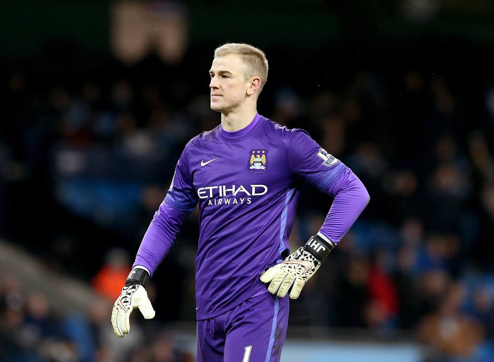Hart beaten - Joe stood no chance with either of the Spurs goals. Courtesy@MCFC