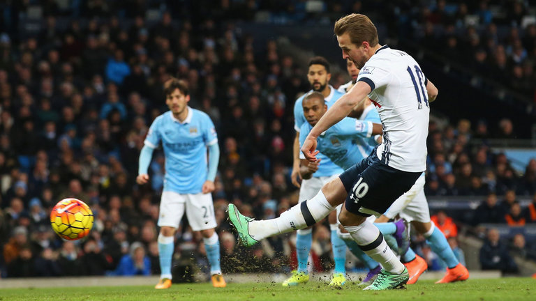 Kane conversion - Spurs go one up in a 2-1 win over City with the penalty that should never have been awarded.