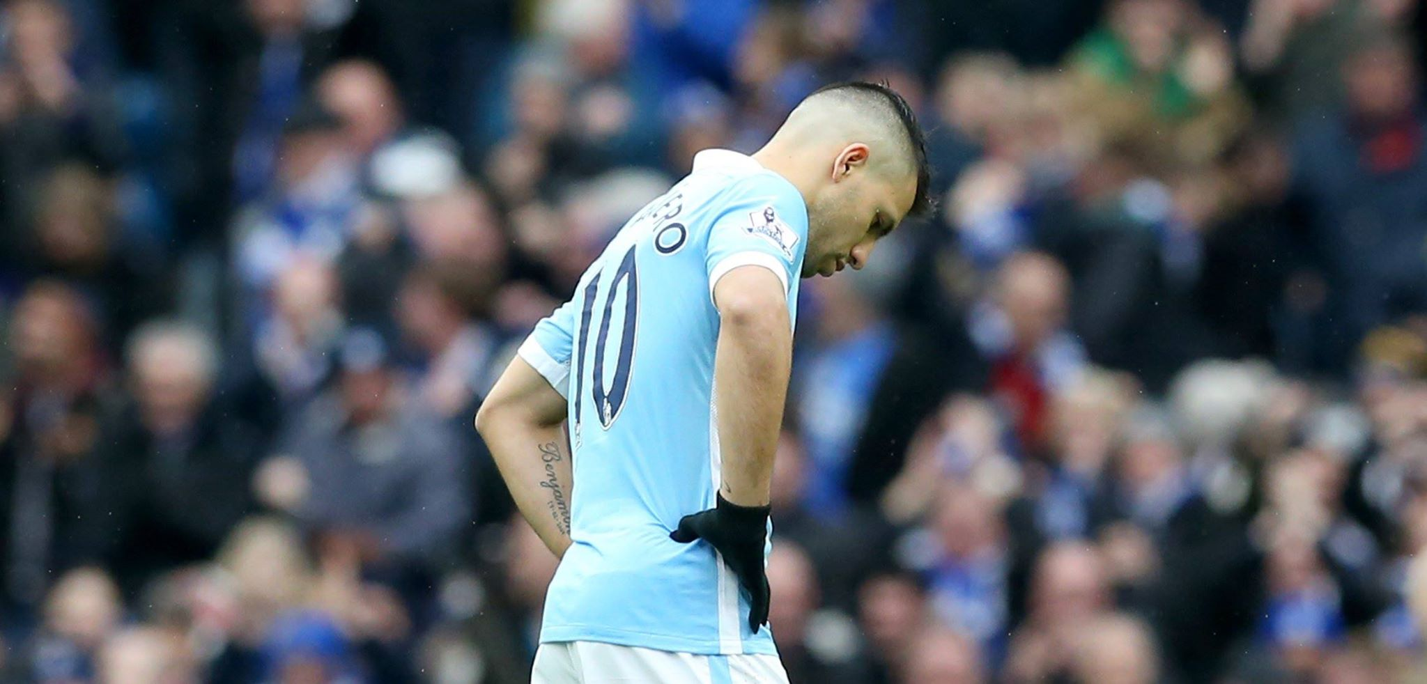 Aguero anguish - Super Sergio couldn't prevent City losing 3-1 to Leicester.