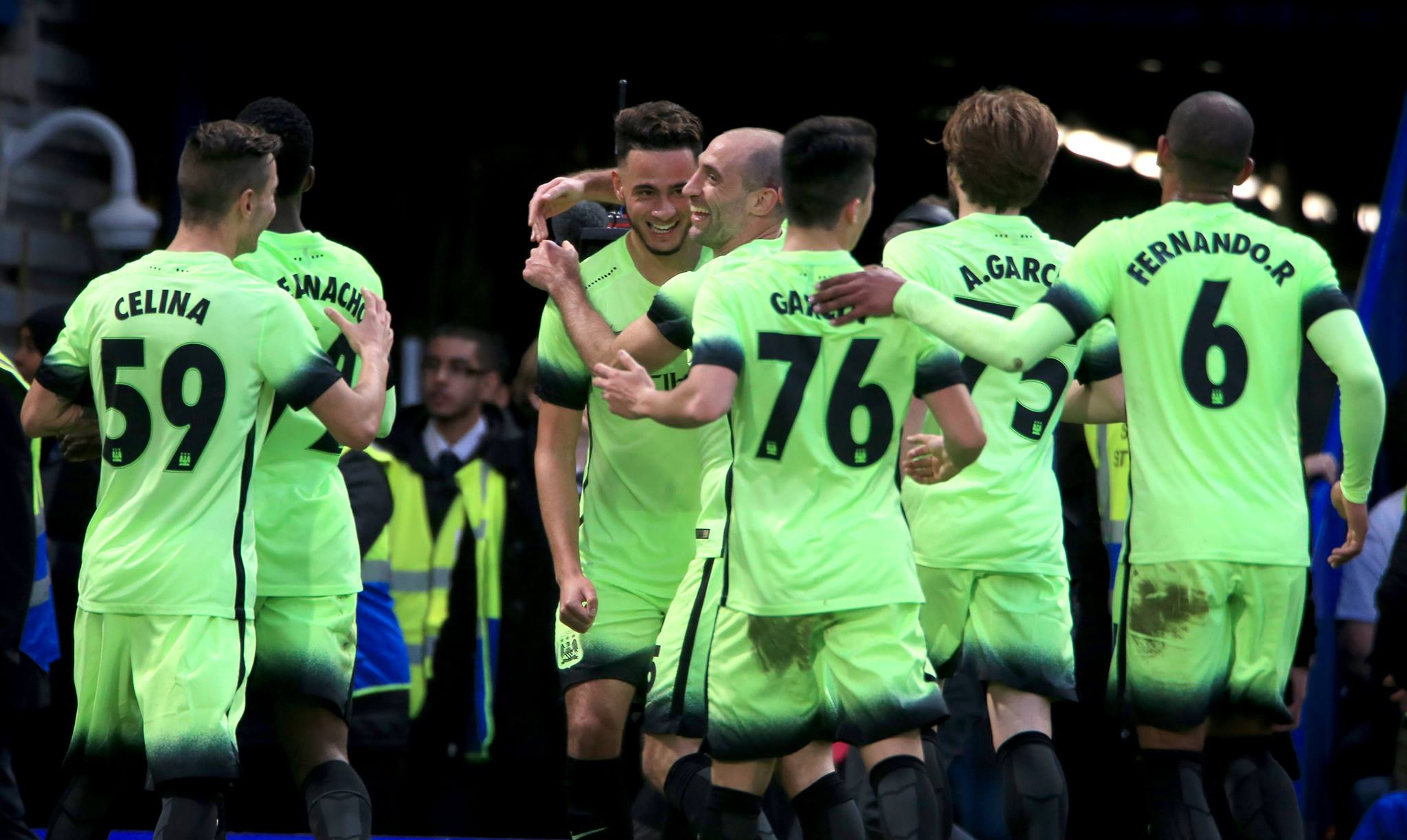 FA Cup delight - David Faupala's equaliser was a bright spot in City's 1-5 defeat at Chelsea. Courtesy@MCFC